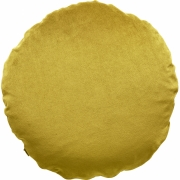 Christina Lundsteen - Basic Rund Kissen Ø 45 cm, Golden olive