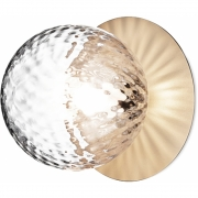Applique et plafonnier Liila 1 Moyen nordic gold, verre optique - Nuura