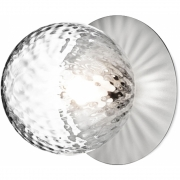 Applique et plafonnier Liila 1 Moyen light silver, verre optique - Nuura
