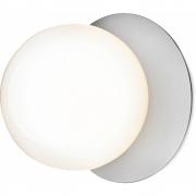 Applique et plafonnier Liila 1 Moyen light silver, verre opale - Nuura
