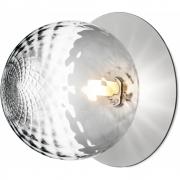 Applique et plafonnier Liila 1 Grand light silver, verre optique - Nuura