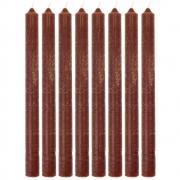House Doctor - Kerze, Rustic Wax, Cognac (8er Set)