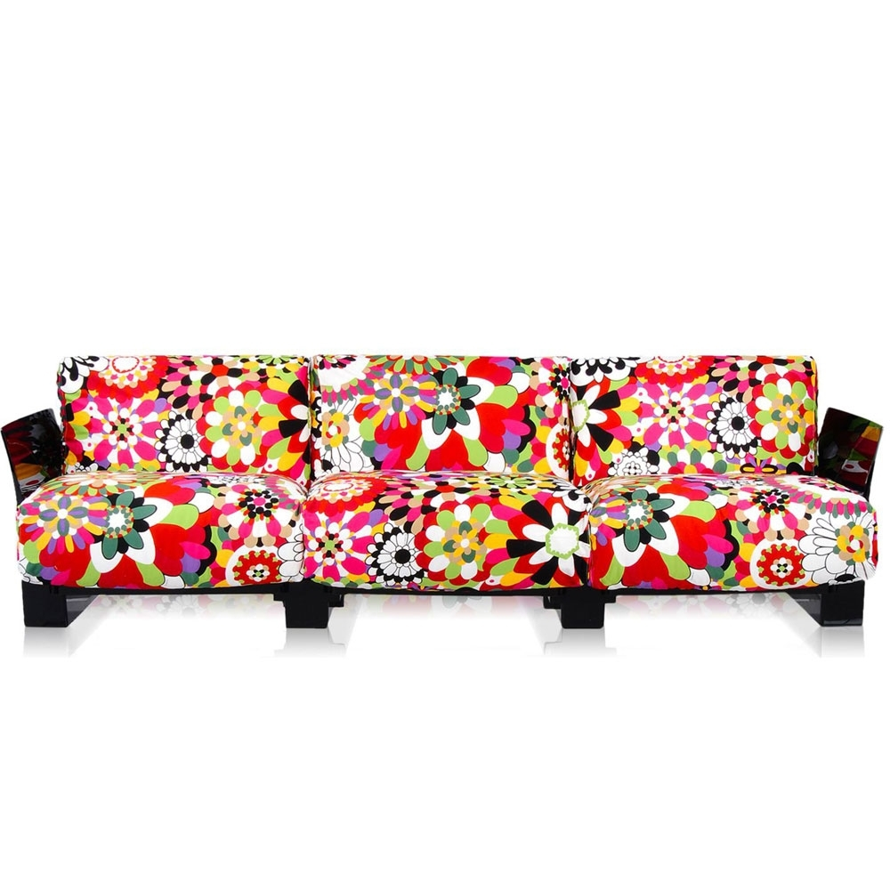Pop Missoni Sofa Design Sofa Kartell 2 Or 3 Seats With: Kartell - Pop Missoni Sofa 3 - Seater