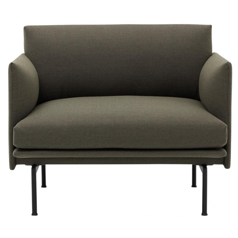 muuto outline sessel gr n grau fiord 961 nunido. Black Bedroom Furniture Sets. Home Design Ideas