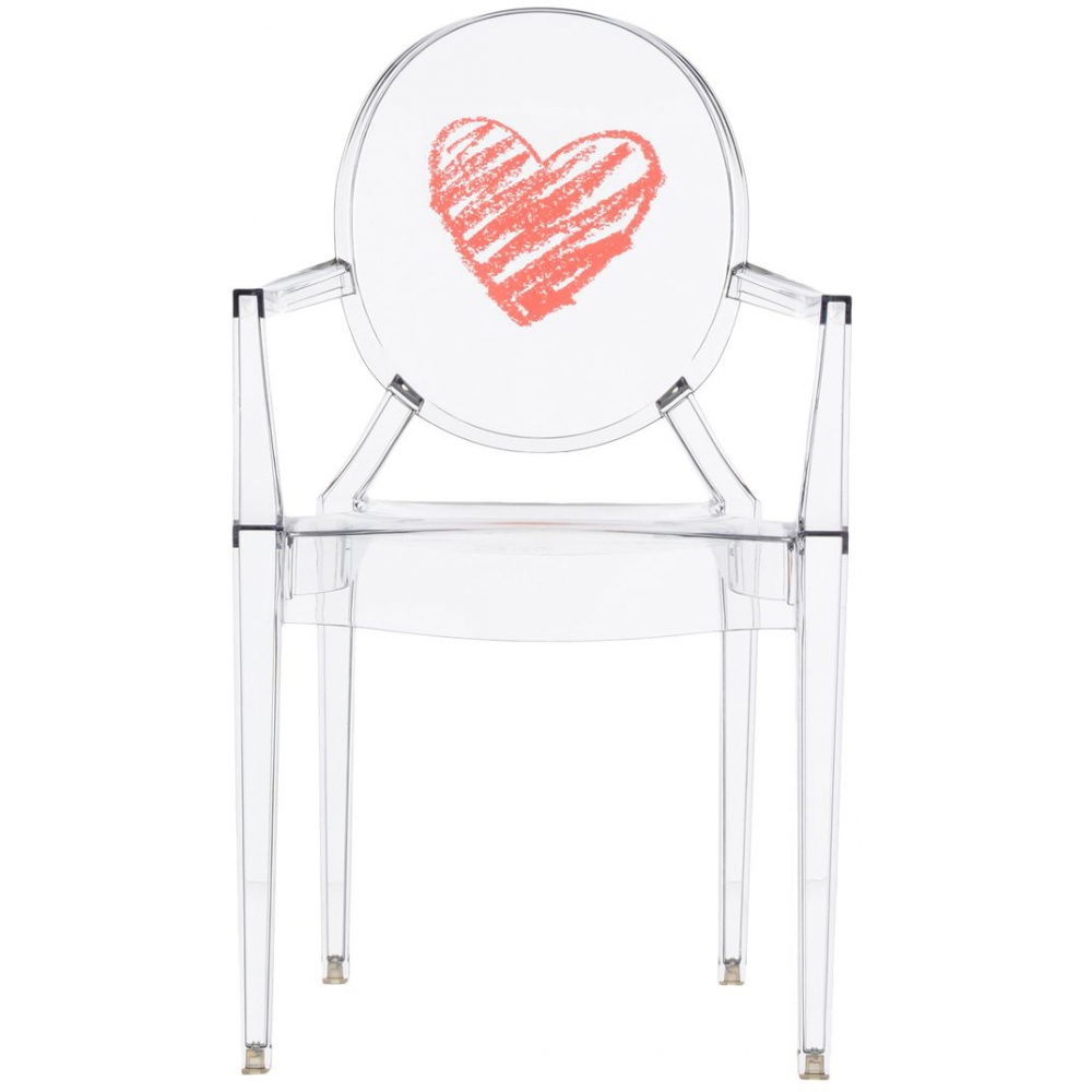 Kartell - Lou Lou Ghost Chair with pattern | nunido.