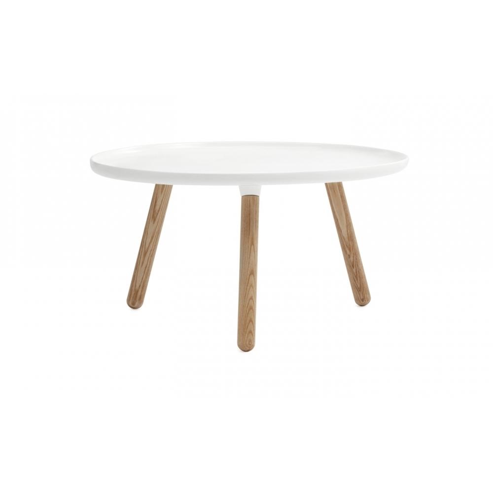 normann copenhagen tablo tisch rund gro wei natur. Black Bedroom Furniture Sets. Home Design Ideas