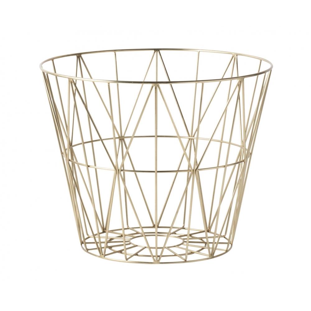 ferm living wire korb nunido. Black Bedroom Furniture Sets. Home Design Ideas