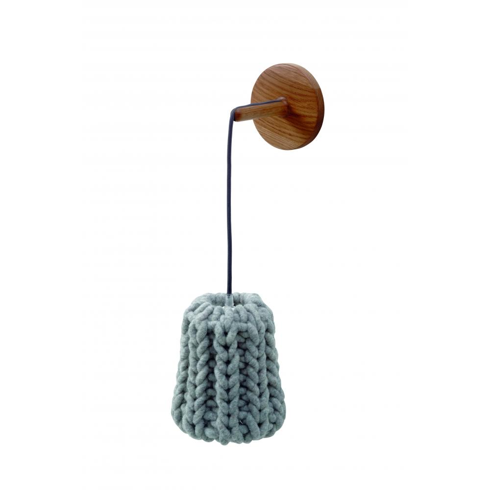 casamania granny wandleuchte ecru kabel rot nunido. Black Bedroom Furniture Sets. Home Design Ideas