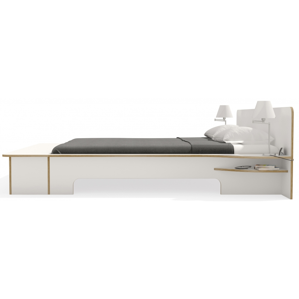 plane doppelbett mit bettkasten nunido. Black Bedroom Furniture Sets. Home Design Ideas