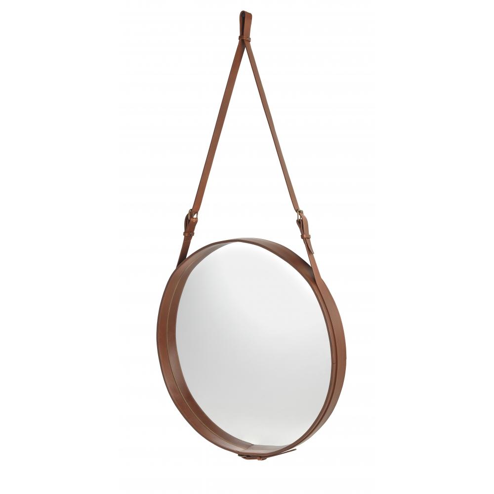 Gubi adnet spiegel rund 70 cm braun nunido - Spiegel rund schwarz ...