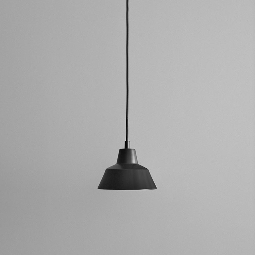 made by hand w3 pendelleuchte schwarz matt schwarz nunido. Black Bedroom Furniture Sets. Home Design Ideas