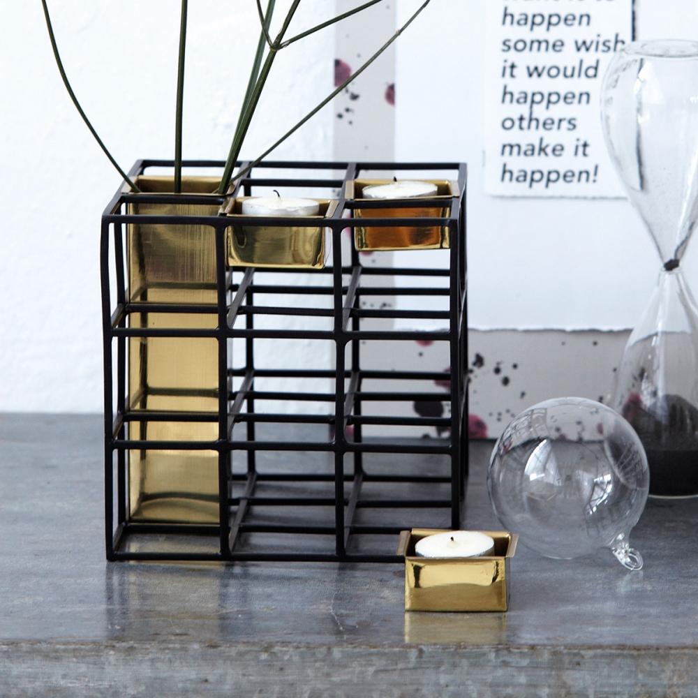 house doctor sq vase kerzenst nder nunido. Black Bedroom Furniture Sets. Home Design Ideas