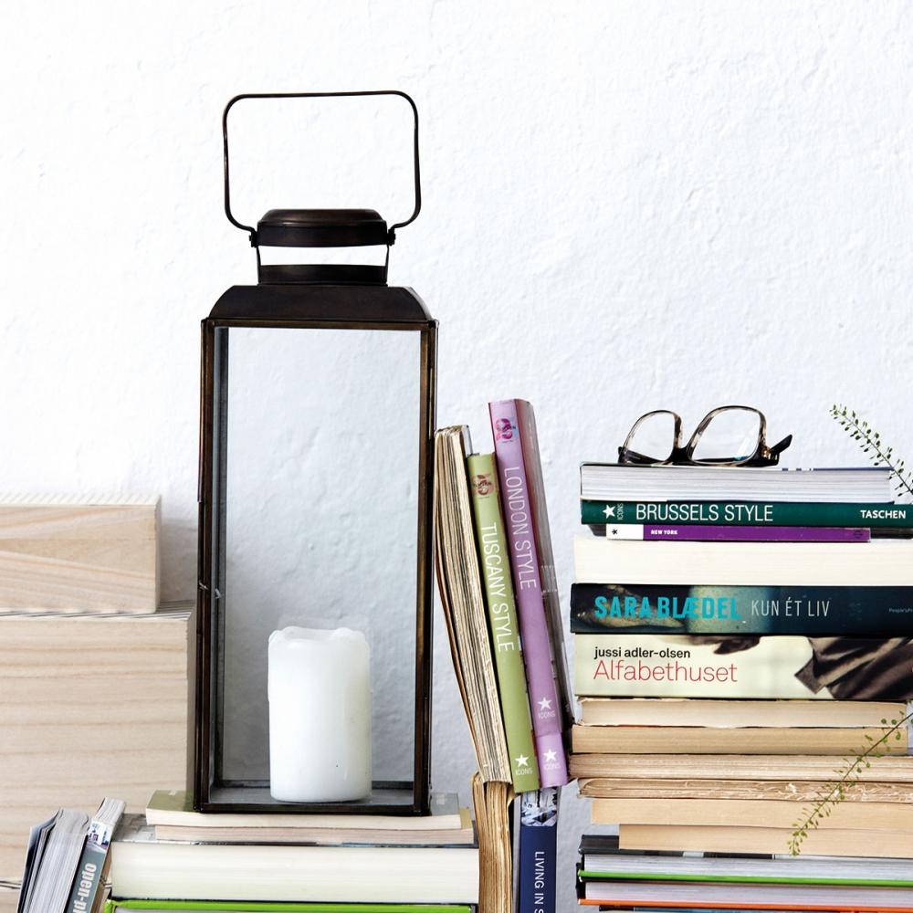 house doctor vintage laterne 30 cm antik schwarz nunido. Black Bedroom Furniture Sets. Home Design Ideas