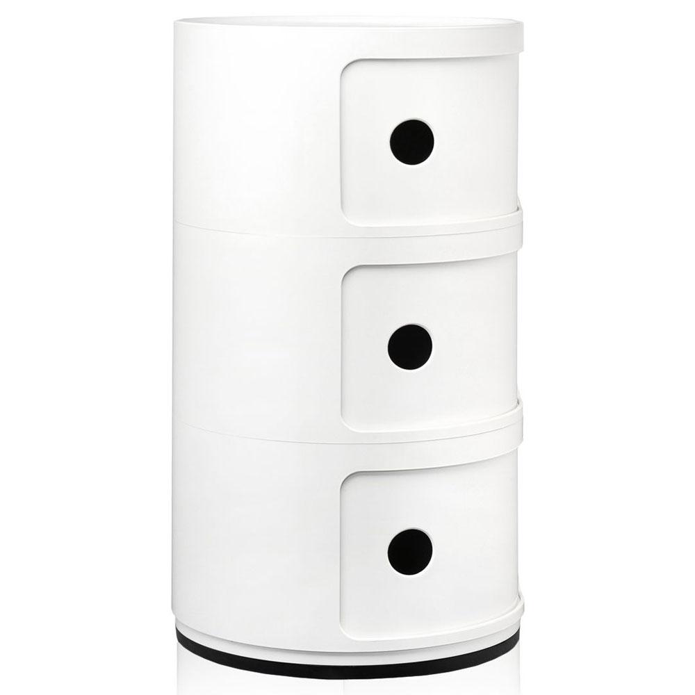 kartell componibili 32 cm 3 cases white nunido. Black Bedroom Furniture Sets. Home Design Ideas