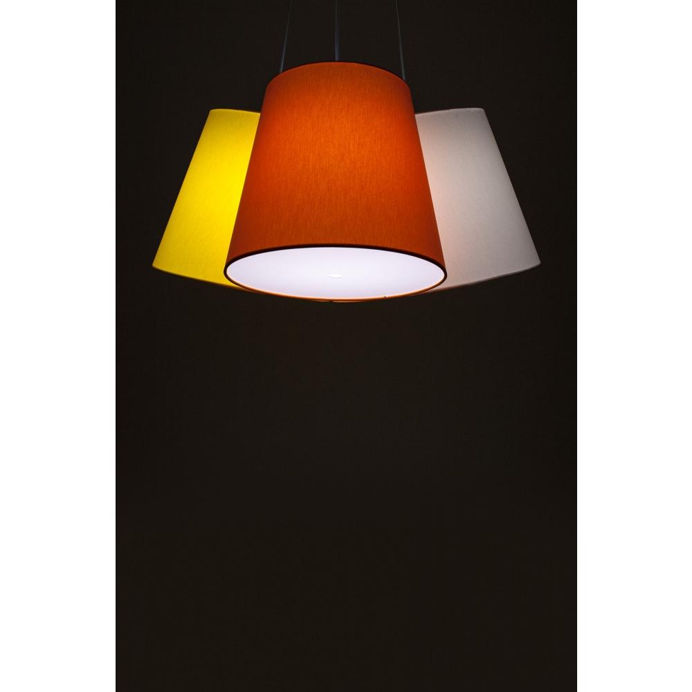 fraumaier cluster pendelleuchte gelb orange wei nunido. Black Bedroom Furniture Sets. Home Design Ideas