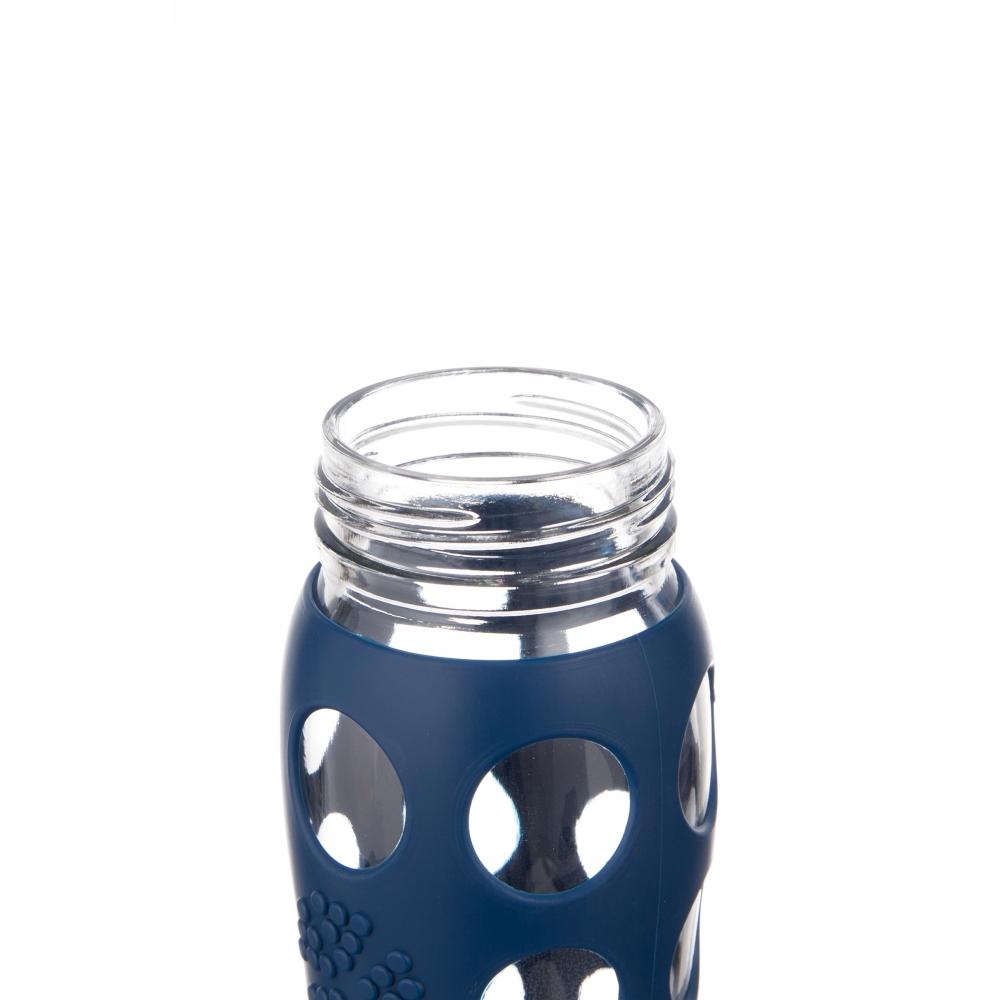 lifefactory glas trinkflasche 650 ml dunkelblau nunido. Black Bedroom Furniture Sets. Home Design Ideas