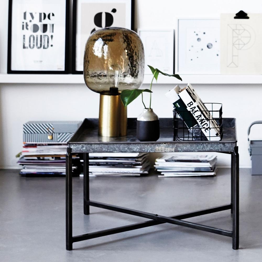 house doctor note table lamp grey nunido. Black Bedroom Furniture Sets. Home Design Ideas