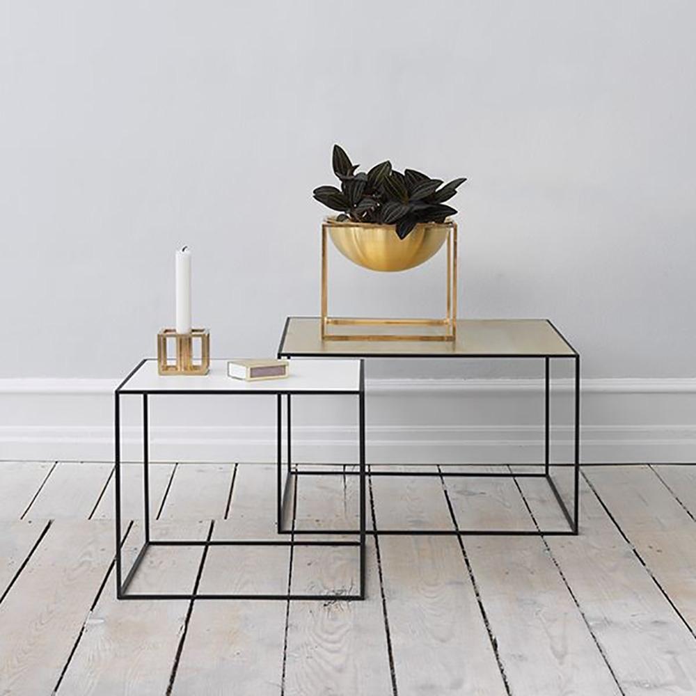 by Lassen - Twin 49 Table Beistelltisch (schwarzer Rahmen) | nunido.