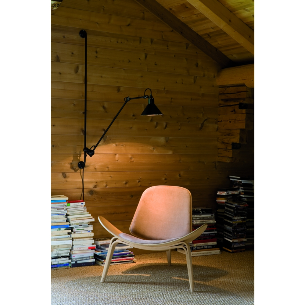 dcw lampe gras n 214 wandleuchte schwarz kupfer. Black Bedroom Furniture Sets. Home Design Ideas