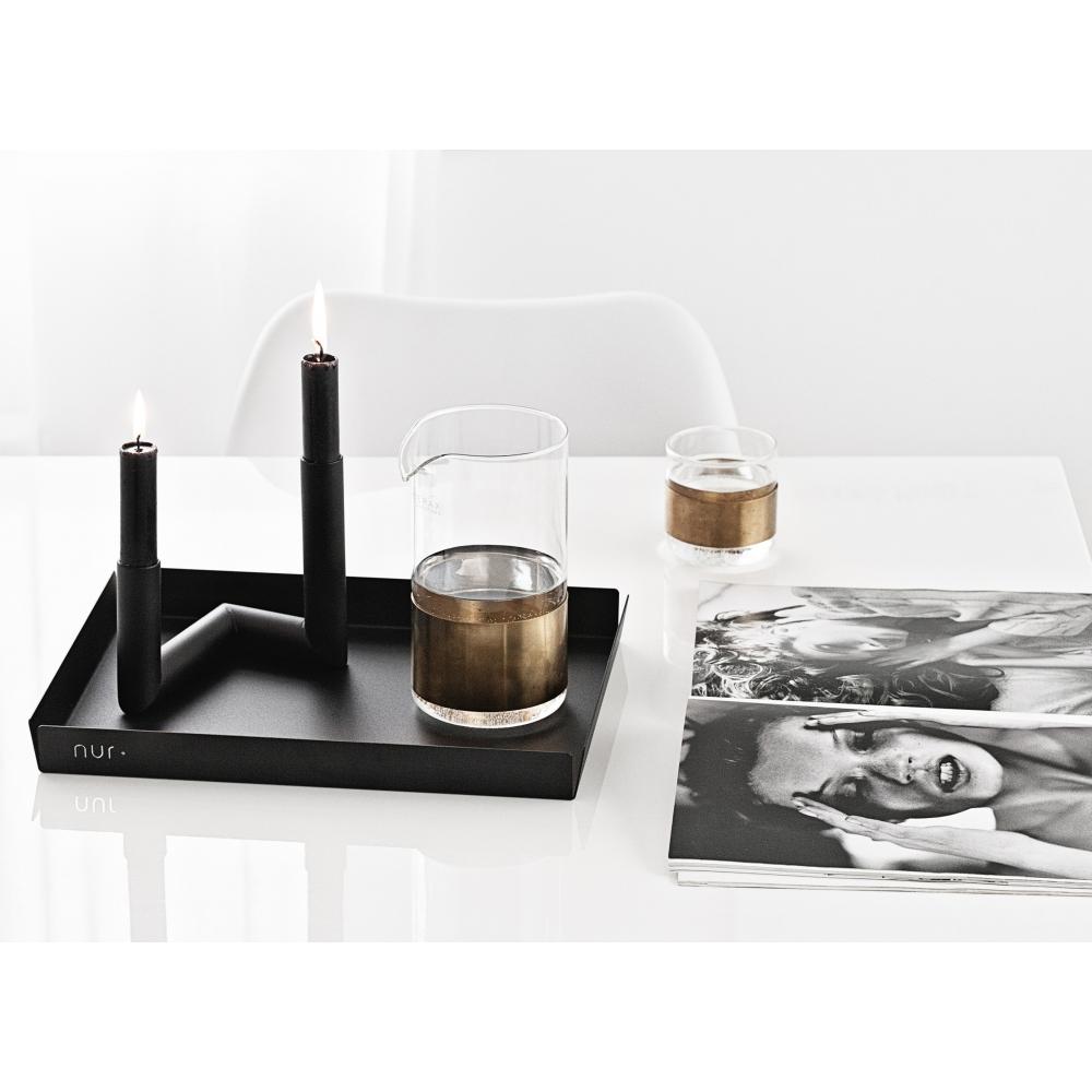 nur pipeline kerzenst nder schwarz nunido. Black Bedroom Furniture Sets. Home Design Ideas