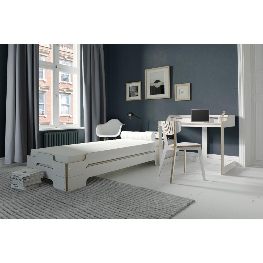stapelliege set mit lattenrost massivholzrahmen und matratze nunido. Black Bedroom Furniture Sets. Home Design Ideas