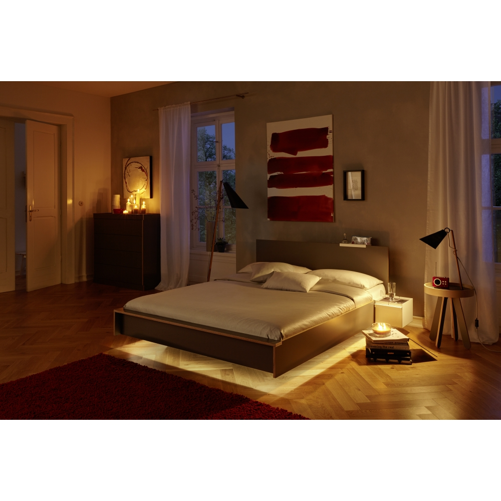 flai bett 200 x 140 cm anthrazit mit kopfteil nunido. Black Bedroom Furniture Sets. Home Design Ideas