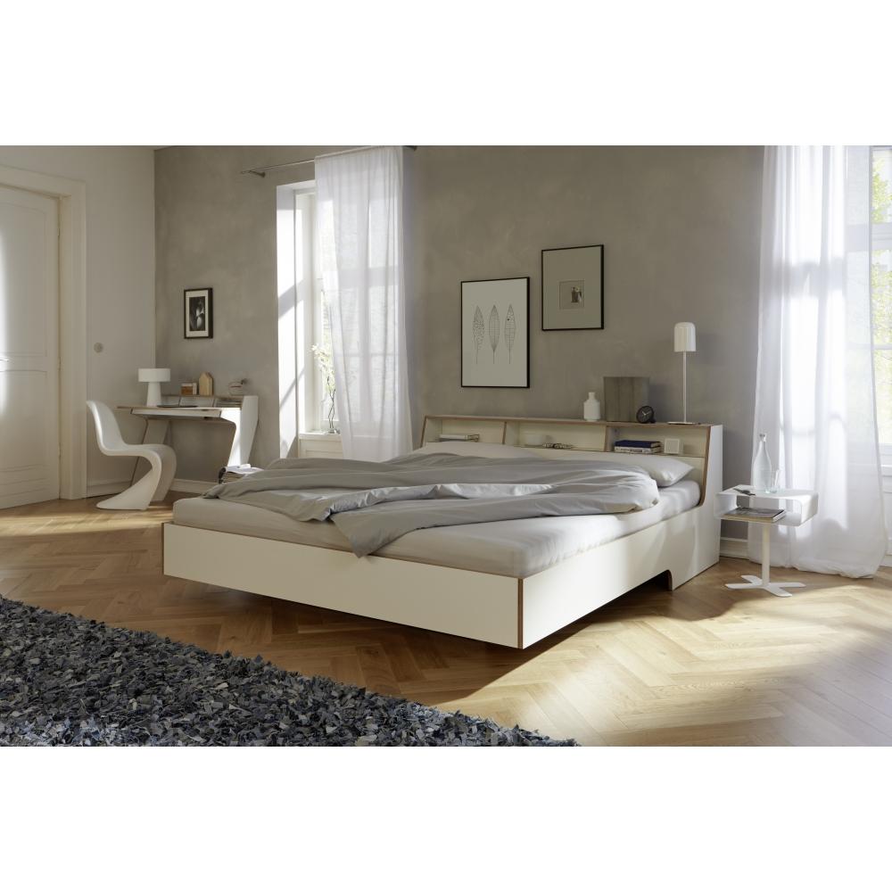 Slope bett 200 x 180 cm wei nunido for Bett 100 x 180